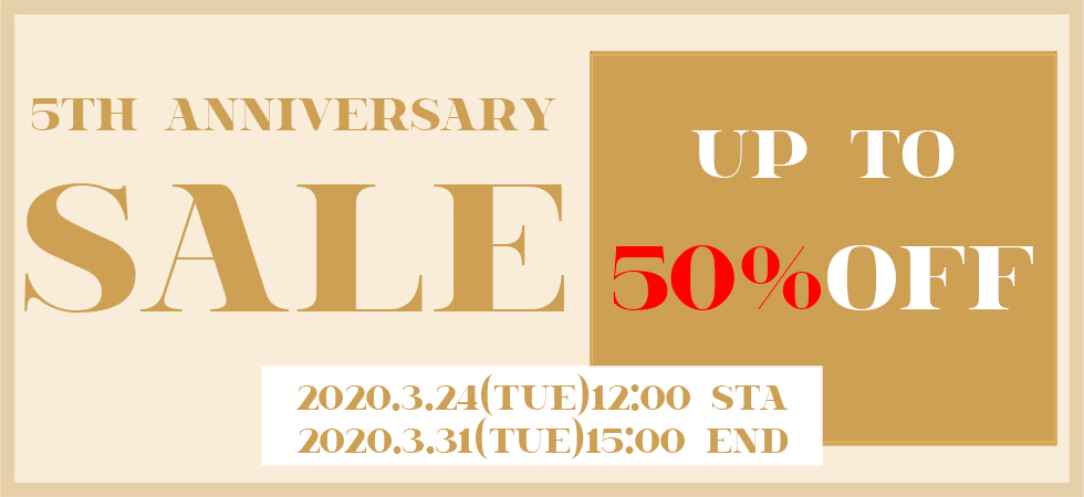 アクセサリー通販BETY'S5周年セール